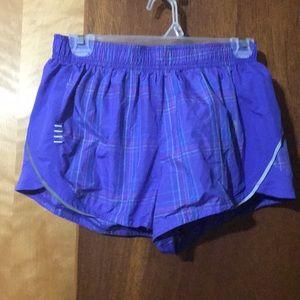 Purple athletic shorts